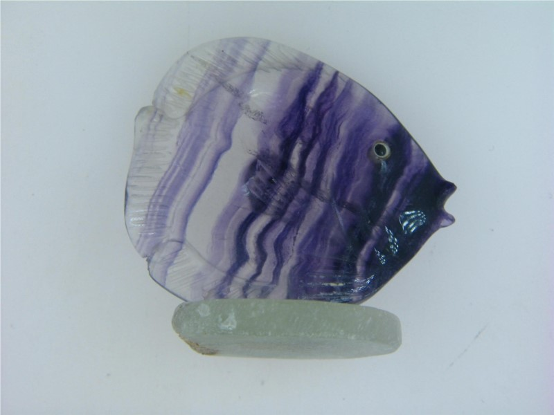 Giftware - Carved Fluorite Fish 50mm 2