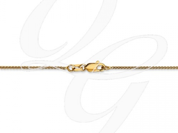 Fine Jewelry - Yellow 14 Karat 1mm Wheat Chain Length 20. - image 3