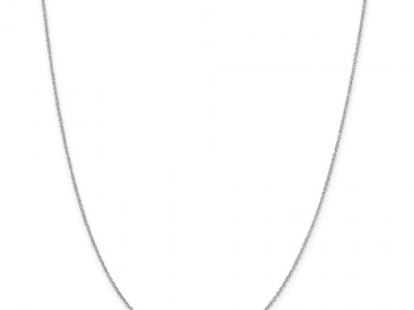 Rhodium Sterling Silver 1 3mm Loose Rope Chain Length 20