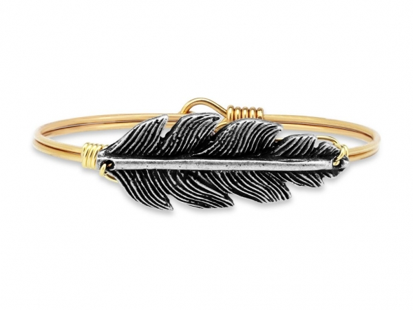 "Bracelets - LUCA+DANNI STC122 ""Lucky Feather"" Bangle"