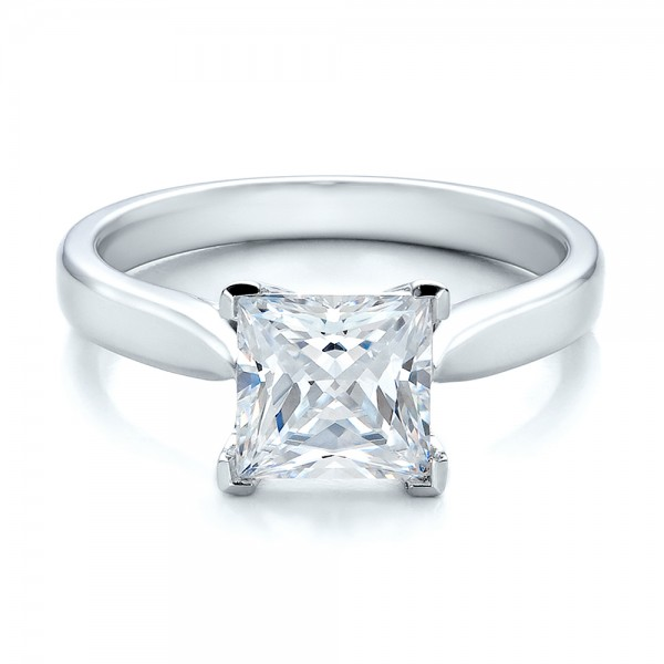 princess rings in cut ring engagement carat white diamond gold