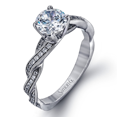 brilliant set ring inspired engagement moissanite rings ro side a design with diamond diamonds bead forever