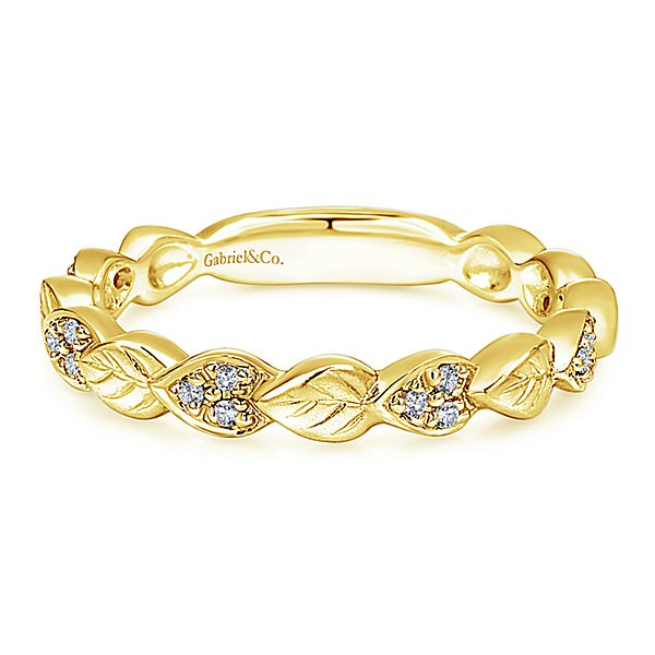 91d52f92181a Fashion Ring - Lady s 14k yellow gold Gabriel and Co. diamond fashion  stackable band.