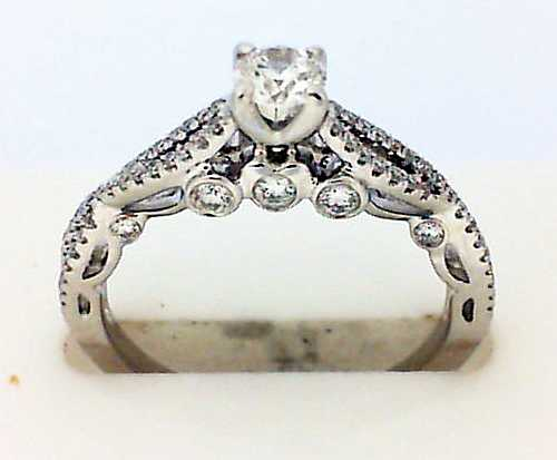 Engagement Ring - White 18K Engagement Ring With One 0.24Ct Round G Fm Dia Notes: FM183 Inscr: 5025109