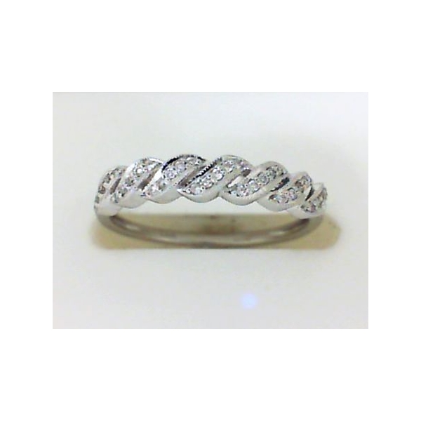 Wedding Band - White 14K Stackable Wedding Band With 0.11Tw Round Diamonds