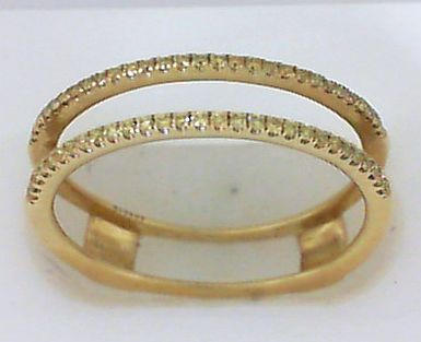 Fashion Ring - Lady's Yellow 18K Simon G Ring With .16Tw Rnd Yellow Dias Notes: Outside  Guard Only