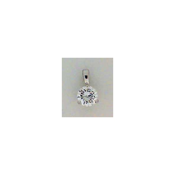 Pendant - White 14K Solitaire Pendant With One 0.36Ct Rnd G Si2 Dia