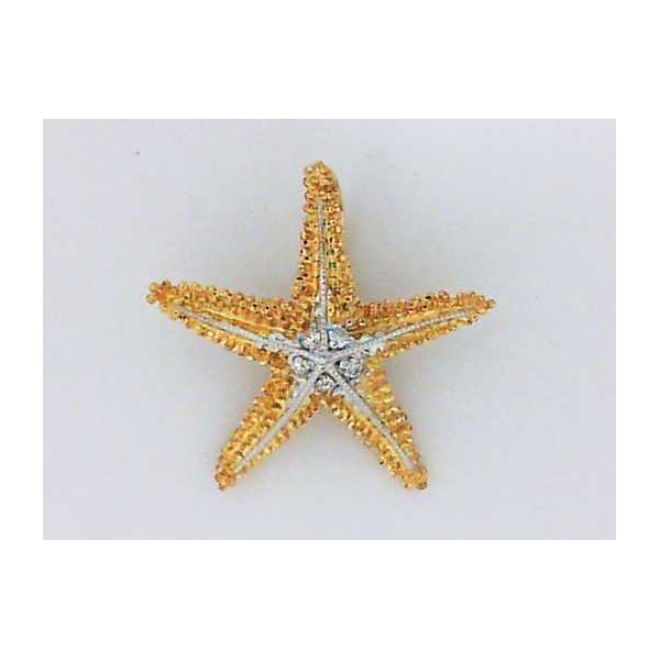 Pendant - Two-Tone 14K Sea Star Pendant With 0.05Tw Round Diamonds