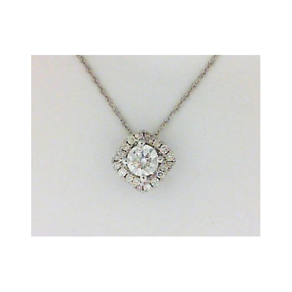 Pendant - White 14K Halo Pendant With 0.51Tw Round Diamonds