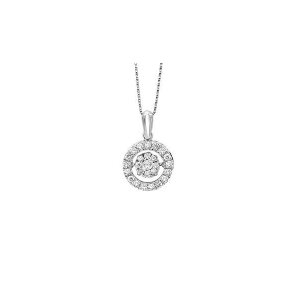 Pendant - White 14K Rhythm Of Love Pendant With 0.50Tw Round Diamonds