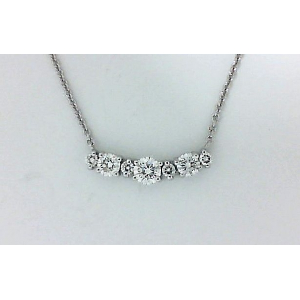 Necklace - White 18K Necklace With 0.72Tw Round Diamonds