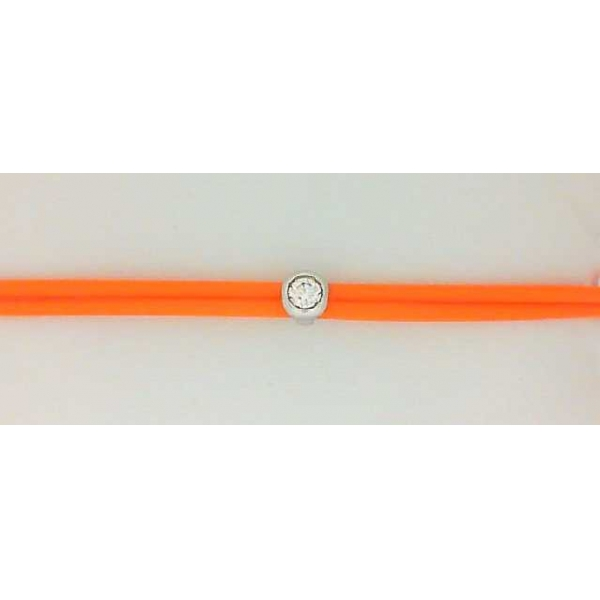 Bracelet - Orange Rubber Bezel Bracelet With One 0.15Ct Round Fm Dia Notes: FM297 Inscr: 1670291