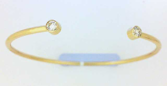 Bracelet - Yellow 14K Cuff Bracelet With.28 Ct Tw Round H Fm Dias Notes: FM379 & 380 Inscr: 2671726, 369760