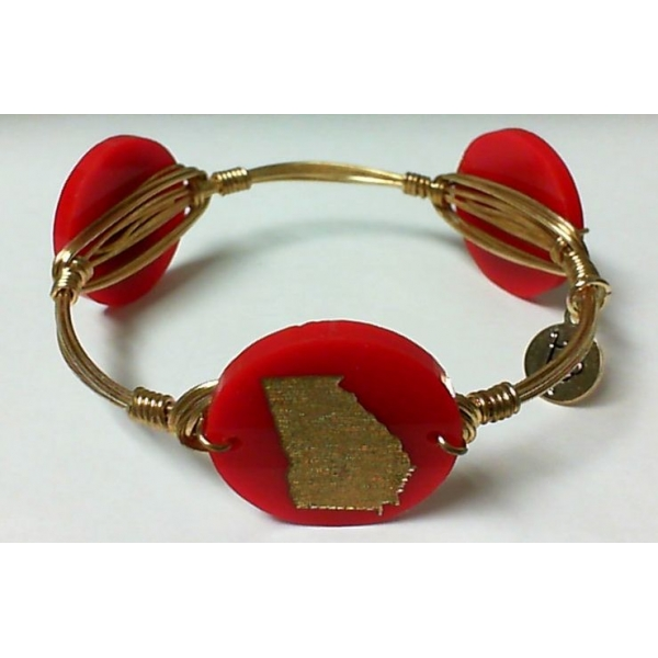 Bracelet - Ruby Gold Finished Georgia Bangle Bracelet Notes: Medium Charm