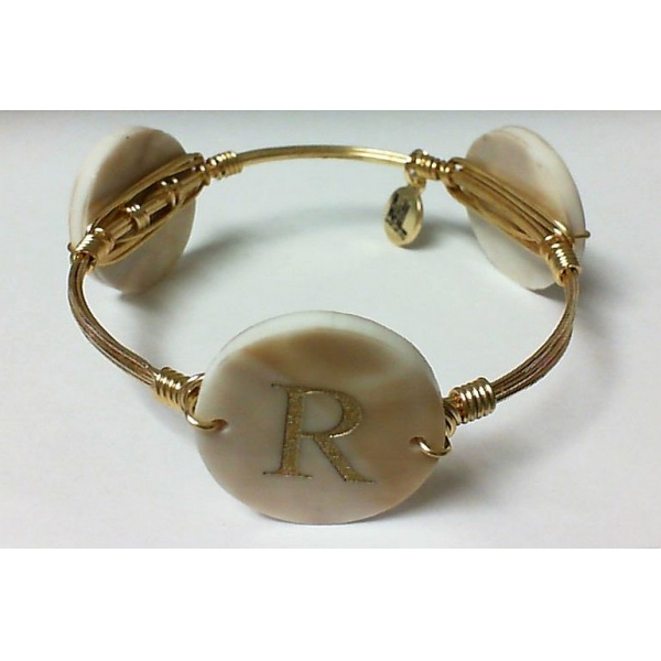 Bracelet - Blond Tortoise Gold Finished Dalton