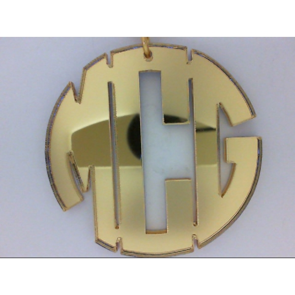 Necklace - Gold Filled Nice Monogram Necklace Necklace Color: Mirrored Gold