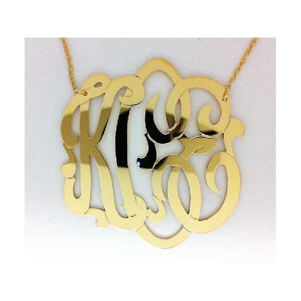 Necklace - Yellow Gold Filled Large Cheshire Monogram Necklace Notes: KCE