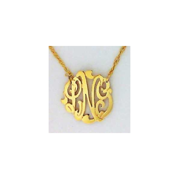 Necklace - Yellow Gold Filled Mini Cheshire Monogram Necklace Notes: LNG