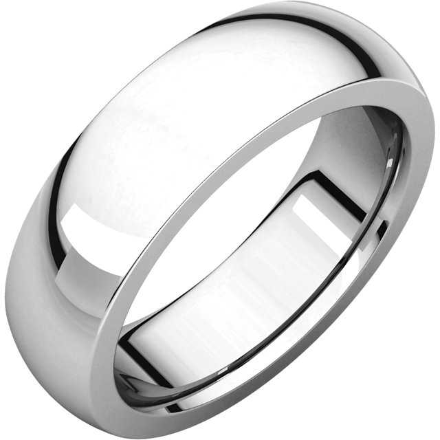 Wedding Band - Gent's White 14K Heavy Wedding Band Size 9 MM Width: 6