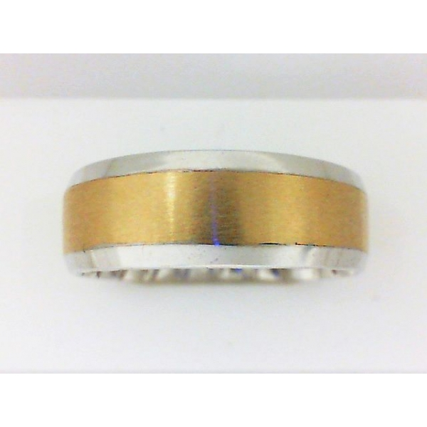 Wedding Band - Two-Tone 10K Satin And Polished M Fit® Wedding Band Size 11