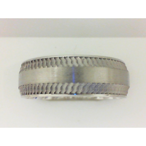 Wedding Band - White 10K Satin M Fit® Wedding Band Size 11.5 MM Width: 8