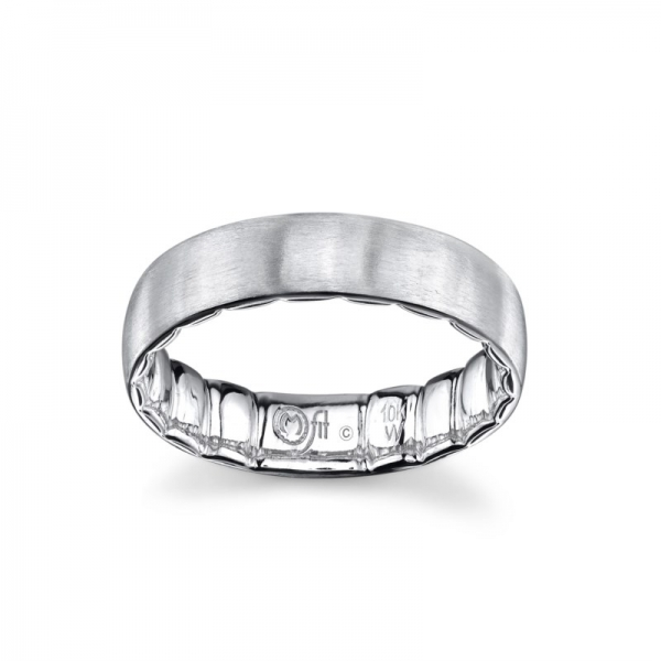 Wedding Band - White 10K Satin M Fit® Wedding Band Size 10 MM Width: 6