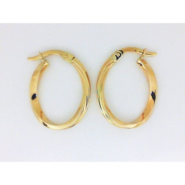 Earrings - Yellow 14K Small Twisted Gold Hoops Earrings Weight: 1.2