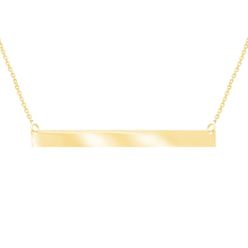 Pendant - Yellow 14K Thin Bar Pendant