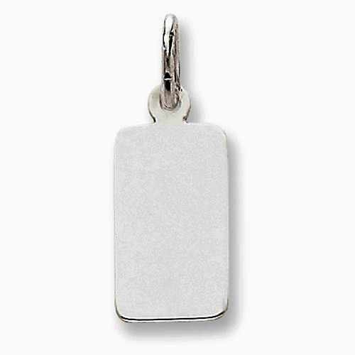 Pendant - White 14K Rectangular Charm