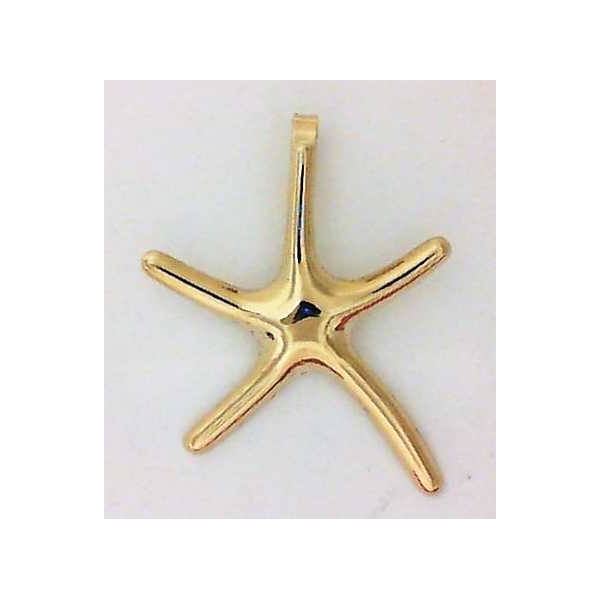 Pendant - Yellow 14K Small Starfish Pendant