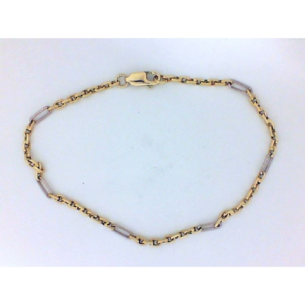 Bracelet - Two-Tone 14K Modified Cable Bracelet Length 7.25 Wieght: 4.3 Notes: **ESTATE**