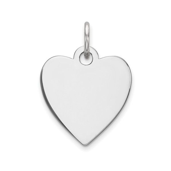 Charm - Sterling Silver Engraveable Heart Charm