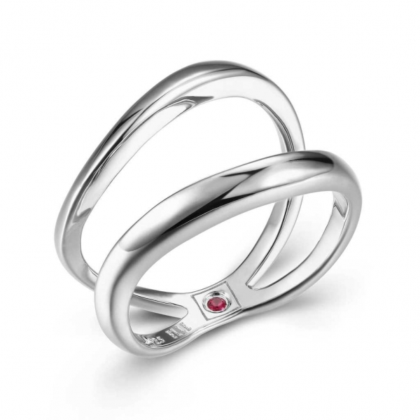 Ring - Sterling Silver Rhodium Finished