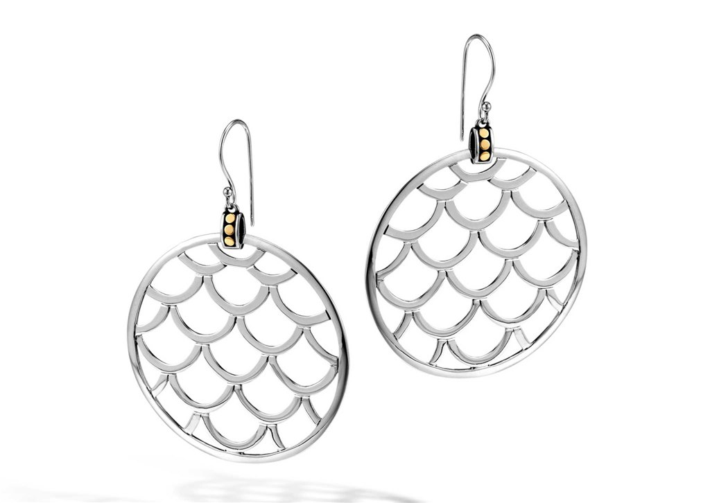 Earrings - Two-Tone Sterling And 18K Lagends Naga Large Round Earrings