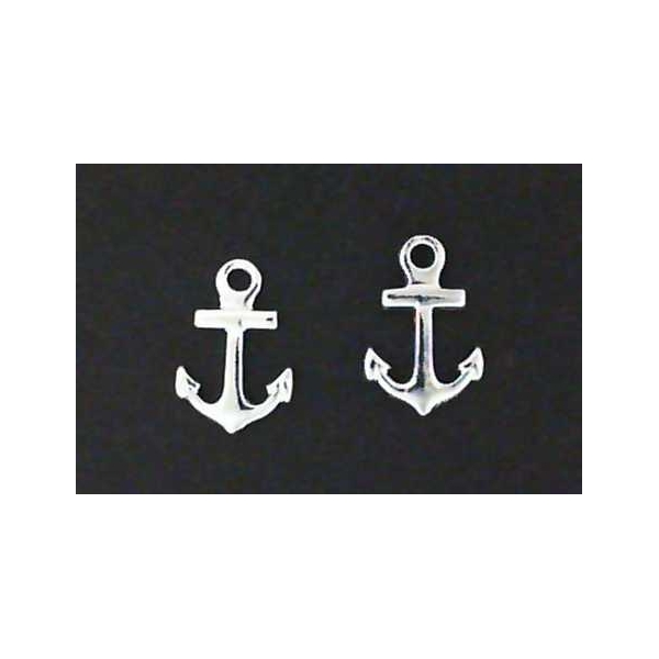 Earrings - Sterling Silver Anchor Earrings