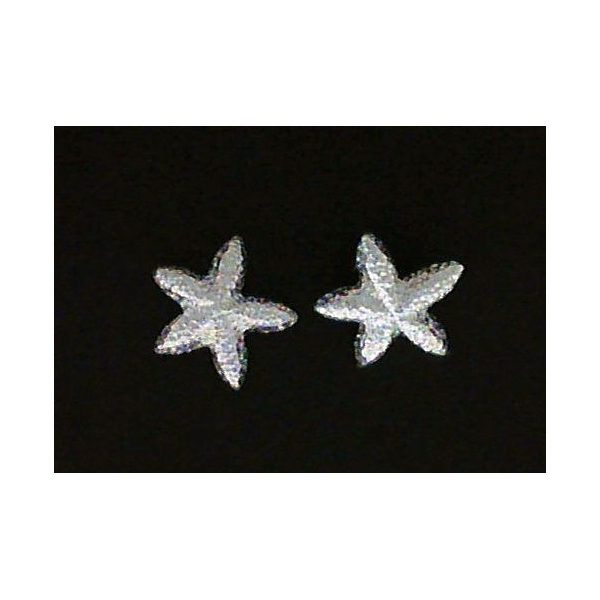 Earrings - Sterling Silver Satin Starfish Earrings