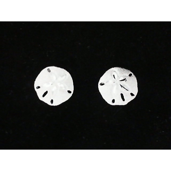 Earrings - Sterling Silver Satin Sand Dollar Earrings Notes: Very Small