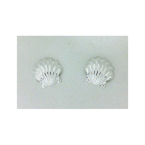 Earrings - Sterling Silver Small Sea Shell Earrings
