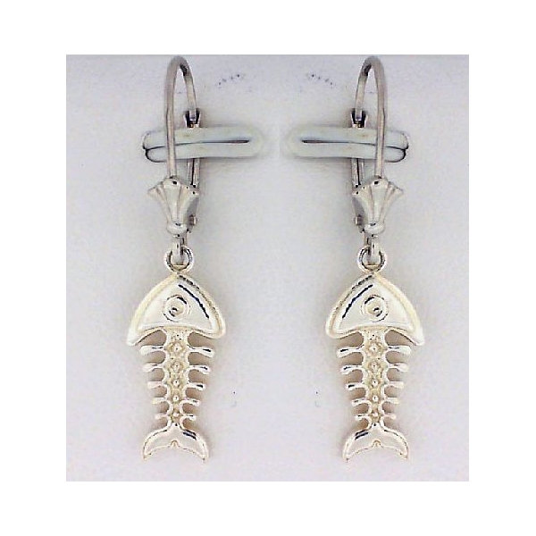 Earrings - Sterling Silver Small Bonefish Earrings