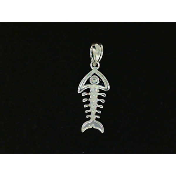 Pendant - Sterling Silver Small Bonefish Pendant