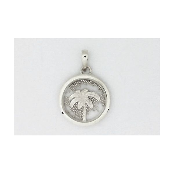 Pendant - Sterling Silver Window Pane Palm Tree Pendant