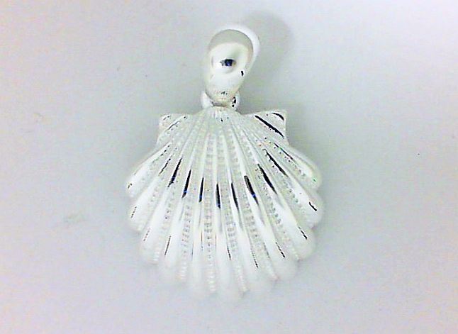 Pendant - Sterling Silver Small Sea Shell Pendant