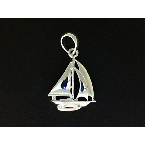 Pendant - Sterling Silver Sail Boat Pendant
