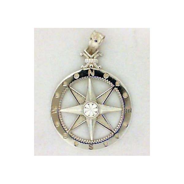 Pendant - Sterling Silver Compass Pendant Notes: Medium