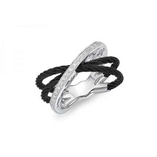 Silver Jewelry - Black And Gray Stainless And 18K
