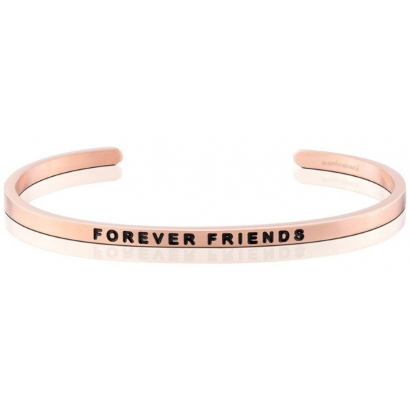 Silver Jewelry - Stainless Steel 18K Rose Gold Finished Forever Friends Mantraband .