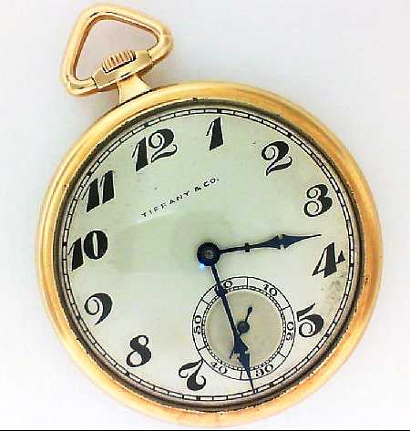 . - *ESTATE* Yellow 14K Tiffany & Co. Pocket Watch  Notes: 1938 Movement IWC
