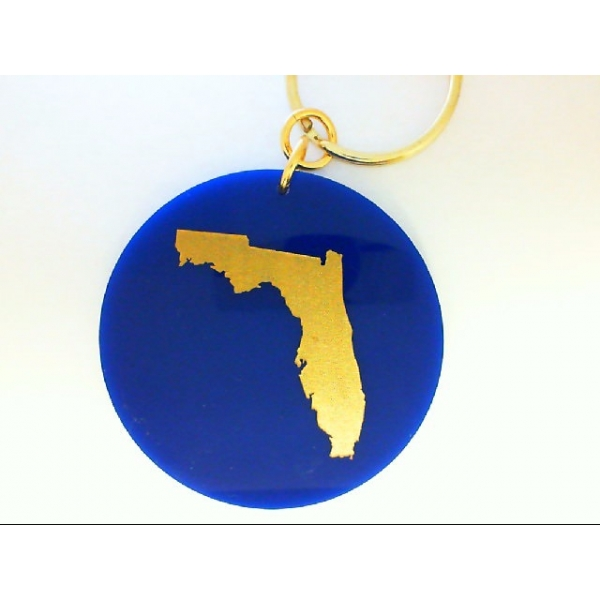 . - Cobalt State Key Chain- Florida .