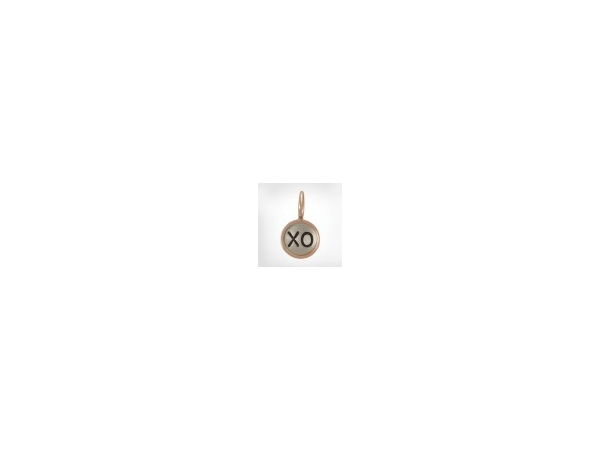 001-402-00003 - S/S size 1 round charm with 14k pink gold original frame single line layout