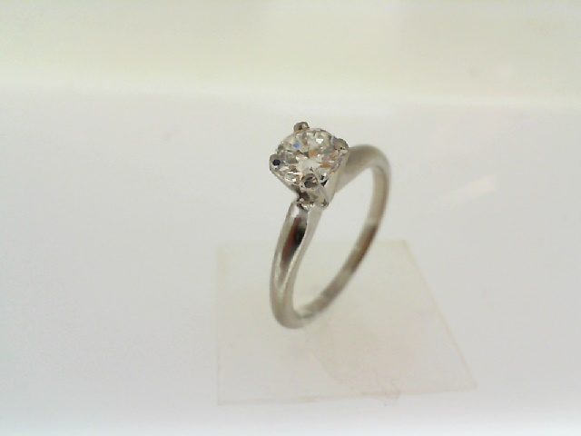 Diamond Engagement Rings - 14 kt W/G    RBC Solitare Engagement Ring .68 ct SI-1, H